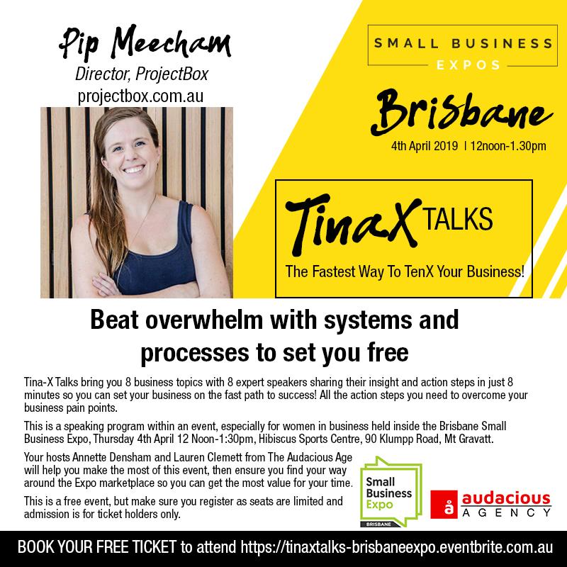 ProjectBox tinaX speaks to pip meecham